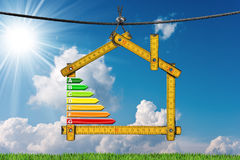 Energy Efficiency - Project of Ecological House Royalty Free Stock Photo