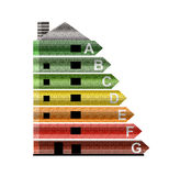 Energy efficiency rating. Stock Photography