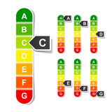 Energy efficiency rating. Vector illustration Royalty Free Stock Images