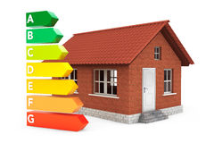 Energy Efficiency Rating Charts with House Stock Image