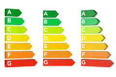 Energy Efficiency Rating Charts Royalty Free Stock Image