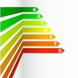 Energy Efficiency Rating. Detailed illustration of an energy efficiency rating background Stock Image