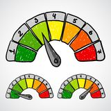 Energy efficiency rating. Doodle vector. Stock Image