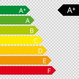 Energy efficiency rating. vector illustration