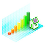 Energy efficiency rating of a house Stock Photo