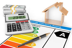 Energy Efficiency Rating with House Royalty Free Stock Images