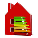 Energy Efficiency Rating Icon Meaning Efficient House Royalty Free Stock Images