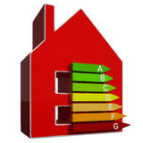 Energy Efficiency Rating Icon Means Efficient House Royalty Free Stock Image