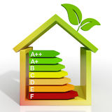 Energy Efficiency Rating Icon Shows Green House Royalty Free Stock Photo