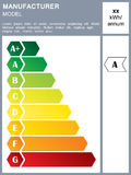 Energy efficiency rating label Stock Photo