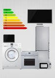 Energy efficiency rating scale Stock Images