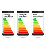 Energy efficiency Smartphone App. Royalty Free Stock Images