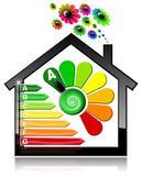 Energy Efficiency A - Symbol in the Shape of House. Energy Efficiency A - 3D illustration of a symbol in the shape of house with energy efficiency rating and Stock Photography