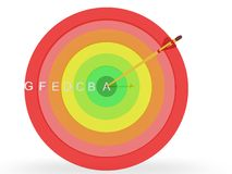 Energy Efficiency Target. Concept in 3D Stock Image