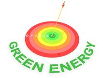 Energy Efficiency Target. Concept in 3D Royalty Free Stock Image
