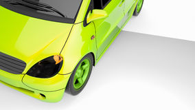 Energy efficient automobiles. 3d and illustration Stock Photography