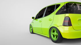Energy efficient automobiles. 3d and illustration Stock Images