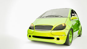 Energy efficient automobiles. 3d and illustration Royalty Free Stock Image