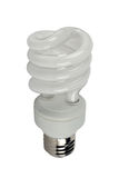 Energy-efficient bulb. Separately on a white background Stock Photos