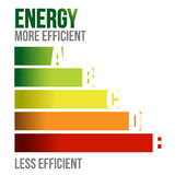 Energy efficient business graph. Illustration design over white Royalty Free Stock Images