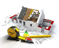 Energy efficient construction Stock Image