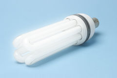 Energy efficient fluorescent lihgtbulb Stock Images