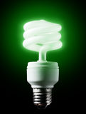Energy-efficient  green bulb. Stock Photos