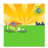 Energy Efficient Green Lifestyle Royalty Free Stock Photo