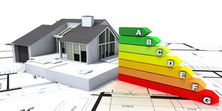 Energy efficient home construction Royalty Free Stock Photography