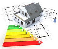 Energy efficient home construction Royalty Free Stock Images