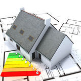 Energy efficient home Royalty Free Stock Image