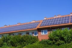 Energy-efficient house Royalty Free Stock Photography