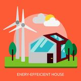 Energy-efficient House Conceptual Design Royalty Free Stock Image