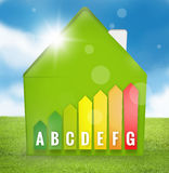 Energy Efficient House Scale Royalty Free Stock Photography