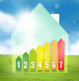 Energy Efficient House Scale Royalty Free Stock Photo
