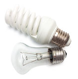 Energy efficient lamp or obsolete Royalty Free Stock Photo