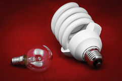Energy efficient light bulb Royalty Free Stock Photography