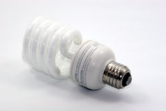 Energy efficient light bulb. Light bulb energy efficient isolated object Royalty Free Stock Image