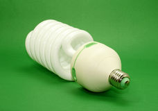 Energy efficient light bulb Stock Image