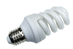 Energy efficient light bulb Stock Photos
