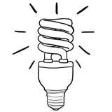 Energy Efficient Light bulb. Line drawing of an energy-saving light bulb Royalty Free Stock Photos