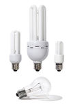 Energy Efficient Light Bulbs Stock Images