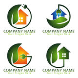 Energy Electric Home Care Logo Natural Concept Stock Photo
