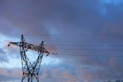 Energy: Electric pylon Stock Photo