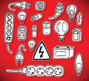 Energy and electric symbols Stock Images