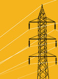 Energy electrical pylon vector Royalty Free Stock Photography
