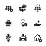 Energy, electricity icon set Stock Photos