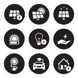 Energy, electricity icon set Royalty Free Stock Images