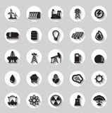 Energy, electricity, power icons Signs and Symbols Stock Images