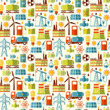 Energy, electricity, power vector seamless background Stock Photos